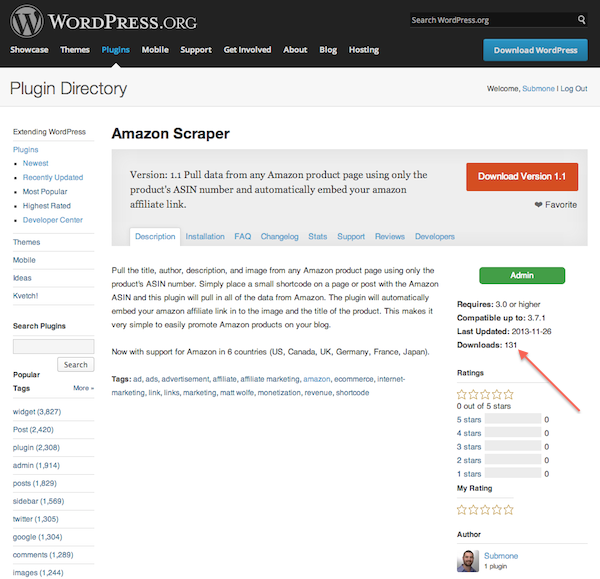 Amazon Scrapper Plugin
